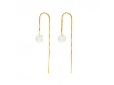Minimalistische Oorbellen Zilver : Elegante oorbellen oorbellen met schelpje drks oorbellen