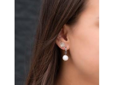 Roosjes stud oorbellen in zilver