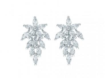 Sparkle oorbellen voor de bruid klassiek