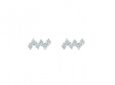 Zilveren subtiele sparkle stud oorbellen