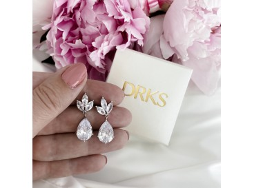 Hanger oorbellen druppel voor de bruid