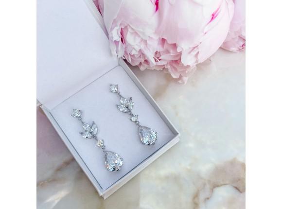 Hanger oorbellen voor de bruid
