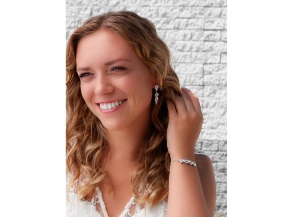 Sparkle oorbellen met pareltjes