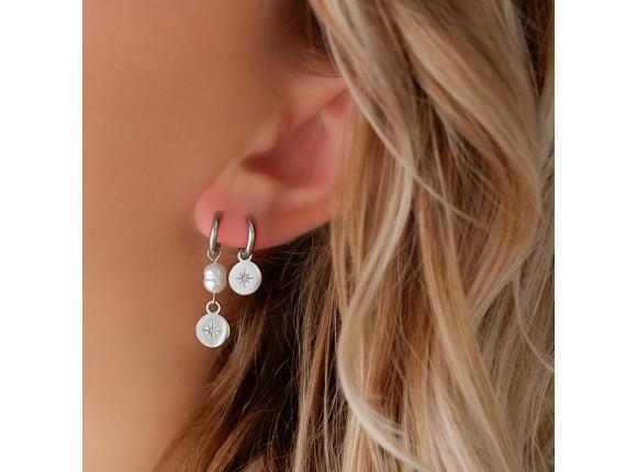Parel oorbellen met hangertje