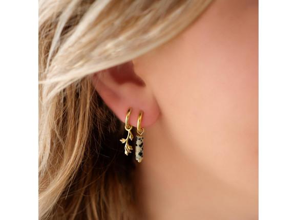 Oorbellen leopard steentje goud kleurig