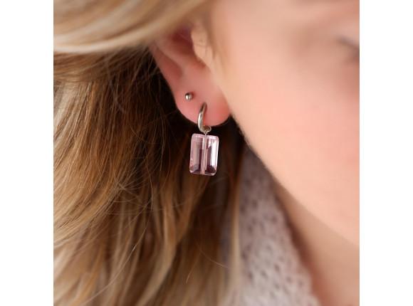 Bolletjes stud oorbellen kleur zilver