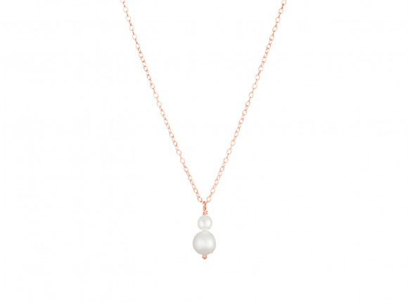 jara double pearl rose necklace