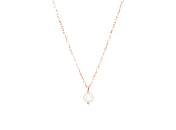 Classy Rose Gold Necklace with Pearl