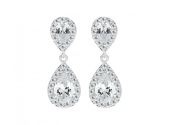 Daily Luxury Oorbellen VIII Zilver