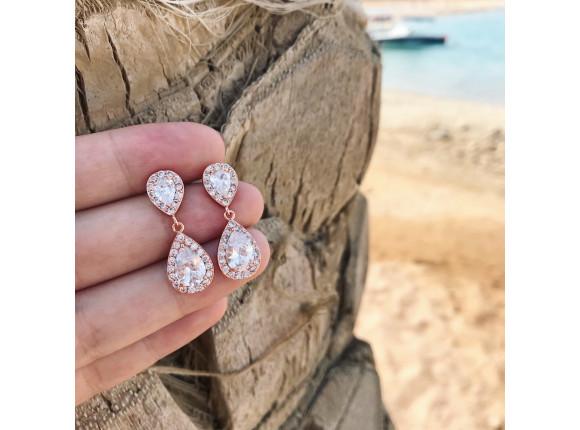 Daily Luxury Earrings VIII Rose Gold