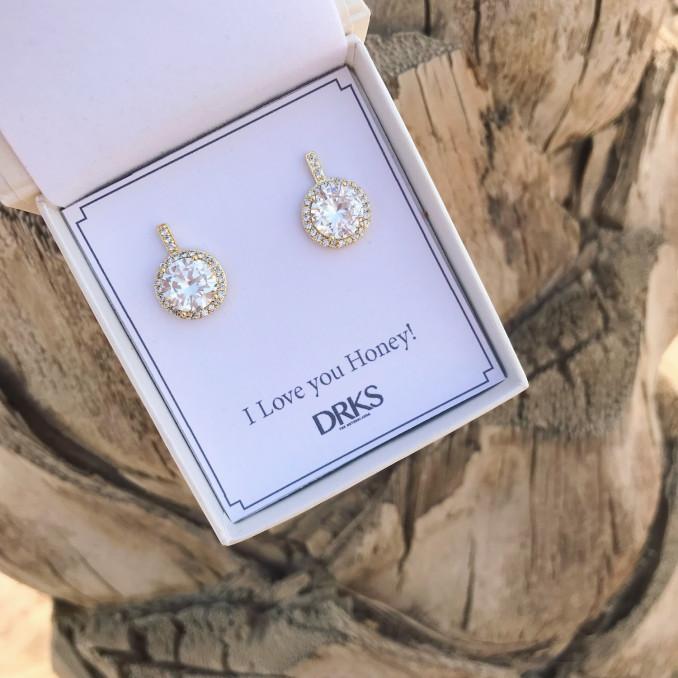 Gouden daily luxury oorbellen in doosje