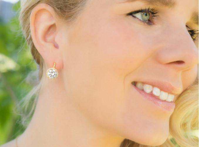 Oorbellen goud Bruidssieraden