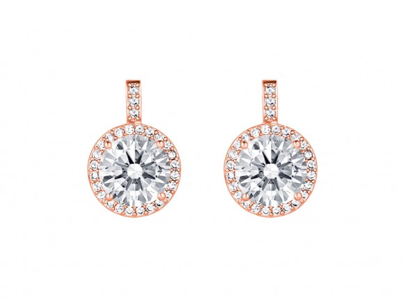 daily luxury earrings rose gold from drks