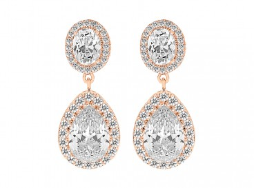 Daily Luxury Earrings IV Rose Gold