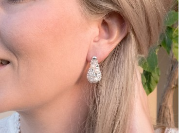 Royal Earrings Medium Silver Ivory