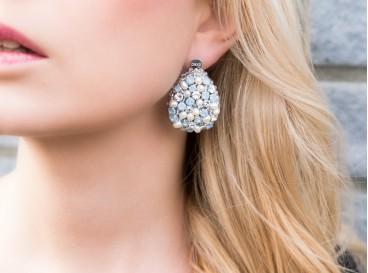 Royal Earrings XL Blauw