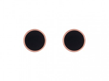 DRKS Must-have Oorbellen rosé goud kleurig/zwart