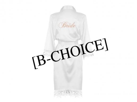 B-Choice Kimono Bride met kant wit
