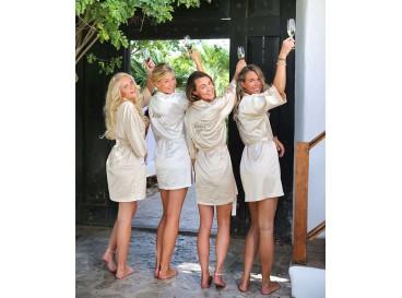 """Kimono """"Bride's Crew"""" Champagne"""
