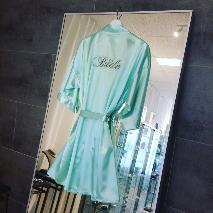 """Kimono """"Bride"""" Mintgroen"""