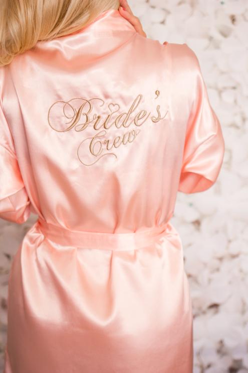 "Kimono ""Bride's Crew"" Roze"