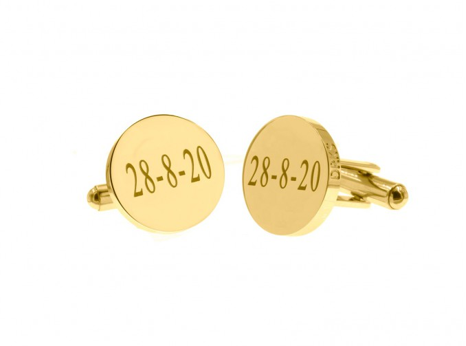 Graveerbare Manchetknopen goud