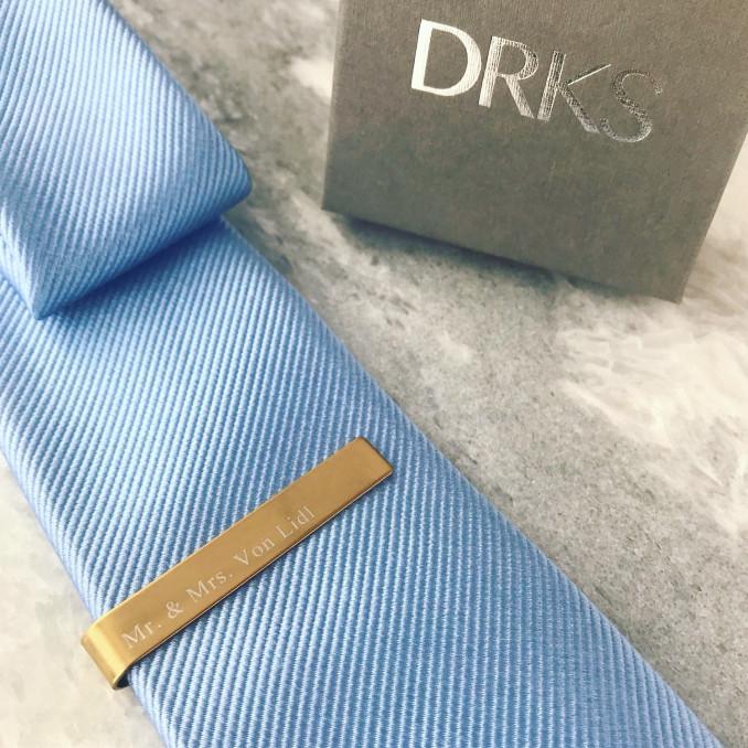 Graveerbare dasspeld voor de man met stropdas