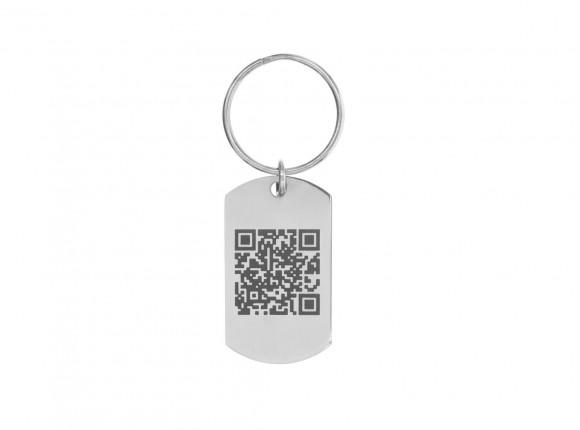 Sleutelhanger met QR code