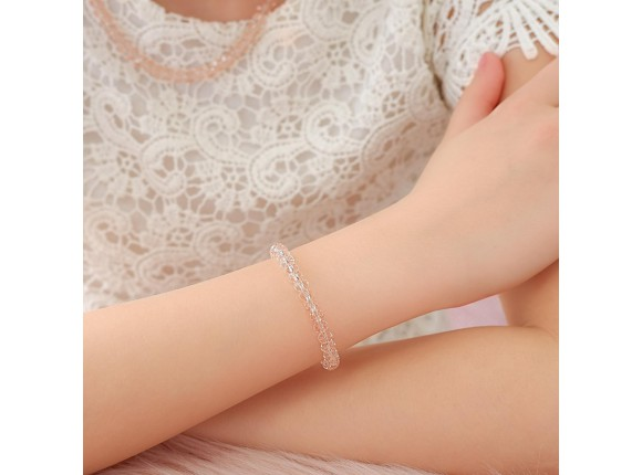 Mimi Crystal Roze armband