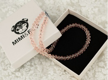 Mimi Crystal Pink Necklace