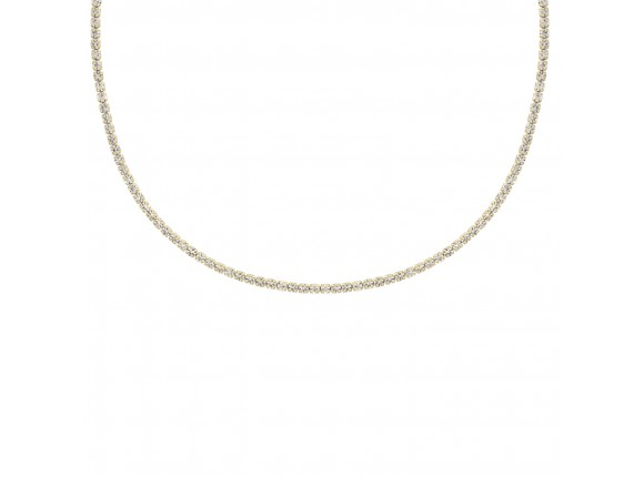 Tennis necklace goud kleurig