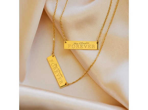 Mom & daughter forever ketting kleur goud
