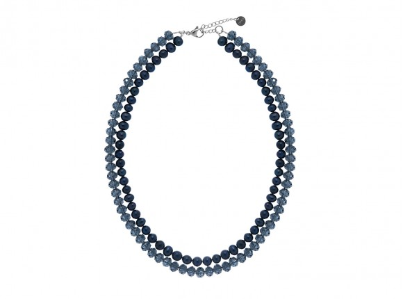 Parelketting mix donkerblauw