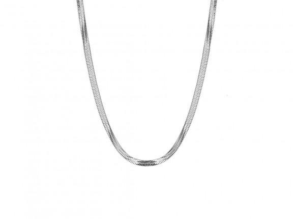 Platte ketting stainless steel