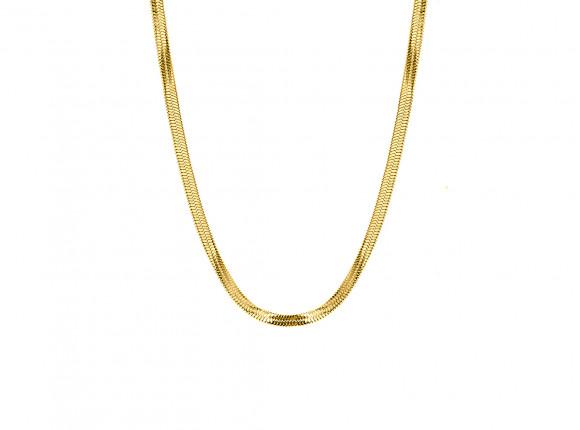 Platte ketting goudkleurig