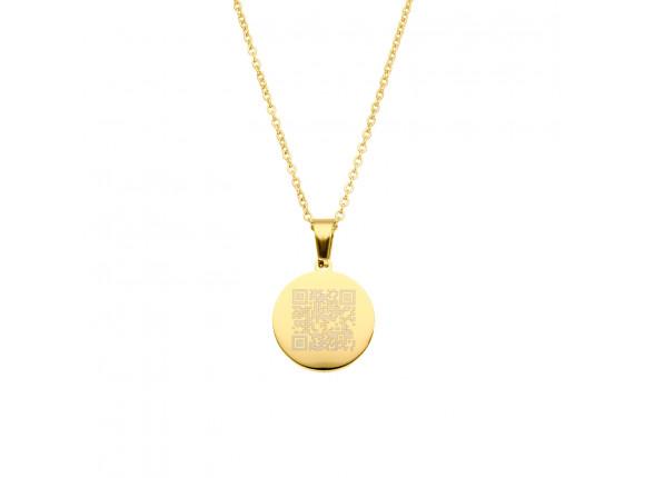 Ketting met jouw QR code goud kleurig