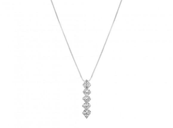 Zilveren elegante sparkle ketting