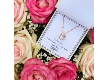 Daily Luxury Ketting II Rose Goud Kleurig