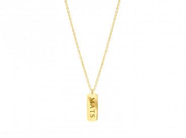 Gouden graveerbare ketting met bar