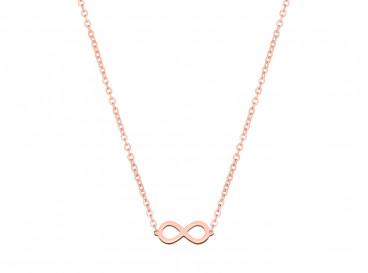 Ketting met infinity teken in rose goud