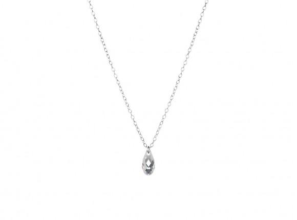 Minimalistische ketting met hangertje zilver