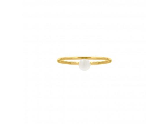 Ring met pareltje goud kleurig