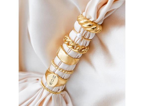 Gedraaid ringetje goud kleurig
