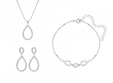 Minimalistische sieradenset sterling zilver
