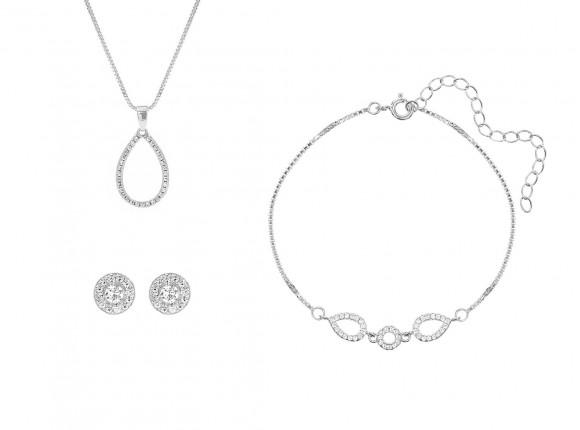 Subtiele sieradenset van sterling zilver