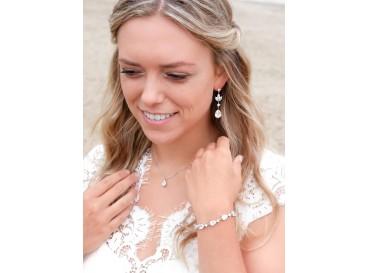 Bruidssieraden set met hanger oorbellen