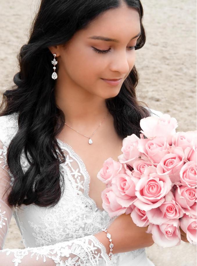 Mooie bruid voor een complete look om te dragen