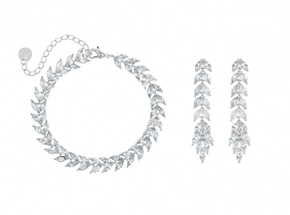 Armband & oorbellen set voor de bruid