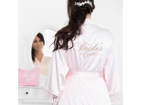 Cadeauset bride's crew kimono met kant