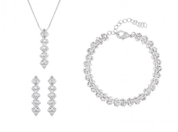 Zilveren bruidssieraden set